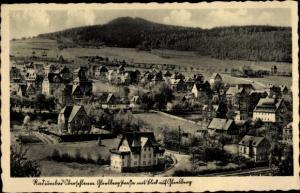 Ak Oberschlema im Erzgebirge, Radiumbad, Teilansicht, Glesberg