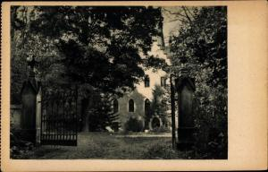 Ak Weißenburg an der Saale Thüringen, Kinderheim des Bezirksverbandes Zwickau, Vorplatz, Portal