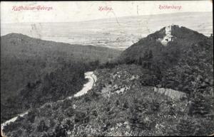 Ak Kelbra im Kreis Mansfeld Südharz, Talpanorama, Kyffhäuser Gebirge, Rothenburg