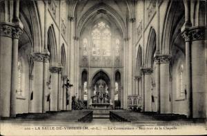 Ak La Salle de Vihiers Maine et Loire, La Communaute, Interieur de la Chapelle