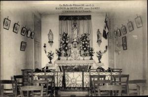 Ak La Salle de Vihiers Maine et Loire, Maison de Retraite pour Dames, L'Interieur de la Chapelle
