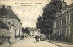 Ak Chevilly Loiret, La Grande Rue