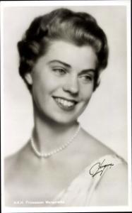 Ak HKH Prinzessin Margaretha, Portrait, Tochter von Gustav Adolf Erbprinz von Schweden