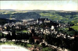 Ak Schwarzenberg im Erzgebirge Sachsen, Gesamtansicht