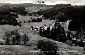 Ak Breitenbrunn im Erzgebirge, Carolathal, Steinheidel, Schwarzwassertal