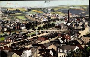 Ak Wilkau Haßlau in Sachsen, Panorama vom Ort