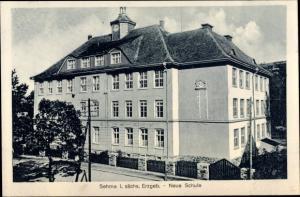 Ak Sehma Sehmatal im Erzgebirge, Neue Schule