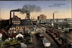 Ak Gelsenkirchen im Ruhrgebiet, Zeche Rhein Elbe