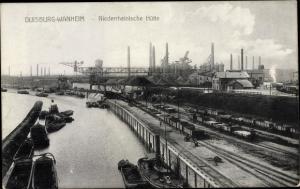 Ak Wanheimerort Duisburg Nordrhein Westfalen, Niederrheinische Hütte