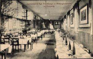 Ak Droyßig im Burgenlandkreis, Kgl Erziehungs und Bildungsanstalten, Speisesaal