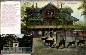 Gedicht Ak Thale im Harz, Dambachhaus, Gedicht am Denkmal