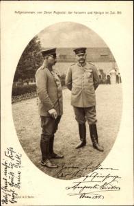 Ak Poznań Posen, Kaiser Wilhelm II. von Preußen, Generalfeldmarschall Paul von Hindenburg, 1915