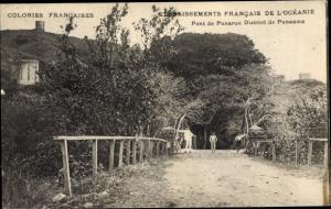 Ak Tahiti Ozeanien, Pont de Punaruu