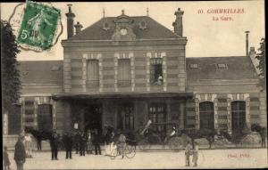 Ak Cormeilles en Parisis Val d'Oise, La Gare