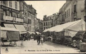Ak Pontoise Val d'Oise, Rue de l´Hôtel de Ville