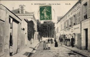 Ak Montmagny Val d'Oise, Rue de la Gare