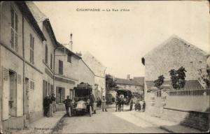 Ak Champagne sur Oise Val d´Oise, La Rue d´Aire
