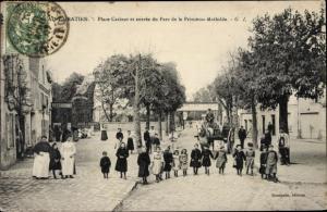 Ak Saint Gratien Val d'Oise, Place Catinat et Entrée du Parc de la Princesse Mathilde
