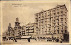 Ak Blankenberghe Blankenberge Westflandern, Casino, Grand Hotel