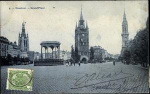 Ak Kortrijk Courtrai Westflandern, Grand Place