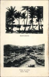 Ak Hanuabada Papua Neuguinea, Village sur pilotis