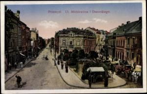 Ak Przemyśl Polen, Ulica Mickiewicza i Dworskiego