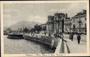 Ak Palermo Sicilia Porta Felice e Foro Umberto I.