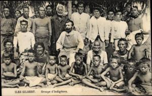 Ak Iles Gilbert Gilbertinseln Kiribati, Groupe d'Indigènes