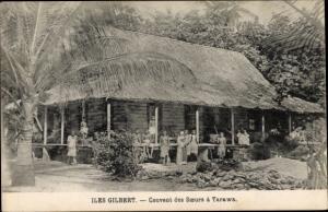 Ak Iles Gilbert Gilbertinseln Kiribati, Couvent des Soeurs à Tarawa, vue extérieure, Indigènes