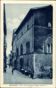 Ak Genazzano Lazio, Casa dove nacque il Papa Martino V