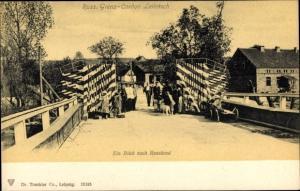 Postcard Leibitsch Lubic Pommern, Russische Grenze Cordon Leibitsch