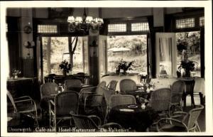 Ak Doorwerth Gelderland, Café-zaal Hotel-Restaurant De Valkenier