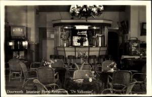 Ak Doorwerth Gelderland, Interieur Hotel-Restaurant De Valkenier