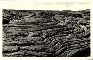 Ak Hell-Bourg Reunion, Le Volcan, Specimen de lave dite cordee