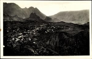 Ak Cilaos Réunion, Vue panoramique du Village