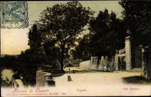 Ak Rapallo Liguria, Villa Baratta