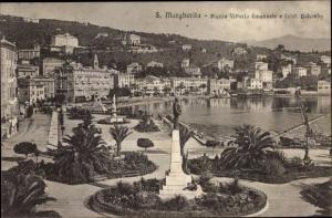 Ak Santa Margherita Liguria, Piazza Vittorio Emanuele e Christ. Colombo