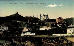 Ak Barcelona Katalonien Spanien, Vista Panoramica del Tibidabo