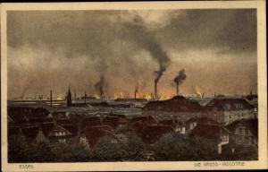 Ak Essen im Ruhrgebiet, Großindustrie, Ortsübersicht
