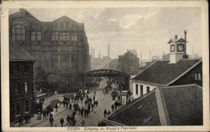 Ak Essen im Ruhrgebiet, Eingang zu Krupp's Fabriken