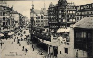 Ak Hamburg Mitte Altstadt, Hochbahnbrücke Alterwall
