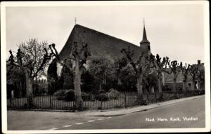 Ak Visvliet Groningen, Ned. Herv. Kerk