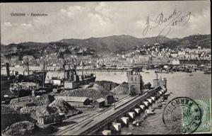 Ak Genova Genua Ligurien, Panorama