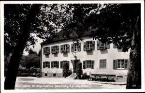 Ak München, Gaststätte Aumeister im englischen Garten, ehem. Kgl. Jagdhaus