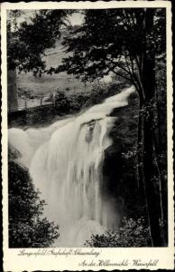 Ak Langenfeld Hessisch Oldendorf an der Weser, an der Höllenmühle, Wasserfall