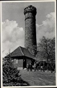 Ak Klein Süntel Bad Münder am Deister, Süntelturm, Totalansicht
