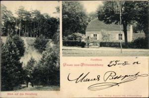 Ak Nowiny Wielkie Döllensradung Ostbrandenburg Polen, Forsthaus, Horstberg