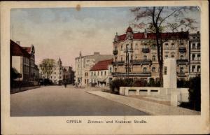 Ak Opole Oppeln Schlesien, Zimmer- und Krakauer Straße