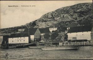 Ak Saint Pierre Martinique, Habitations de peche