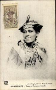 Ak Martinique Type et Costume Creole